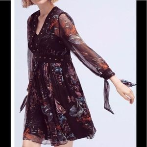 🆕Anthro Maeve Nighttime Floral Dress NWT